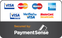 Payments secured by PaymentSense Merchant Services